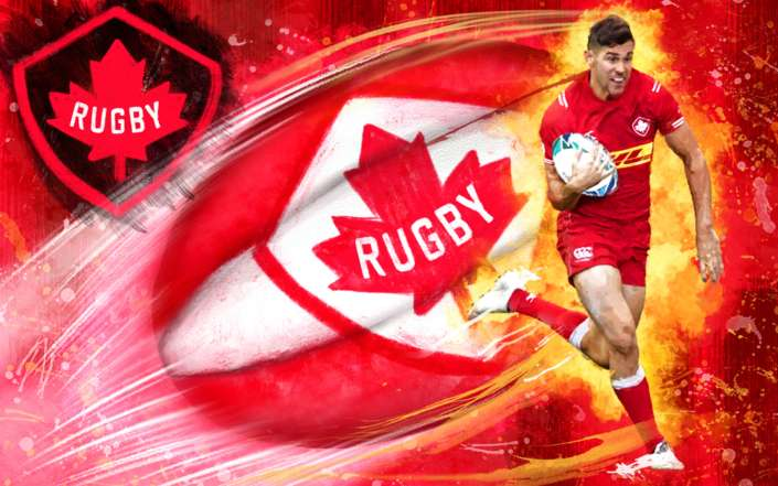 Canadian Rugby Illustration for Rugby World Cup 2019